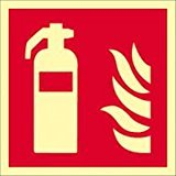 Brandschutzzeichen - Feuerlöscher lang nachleuchtend - ISO 7010-0