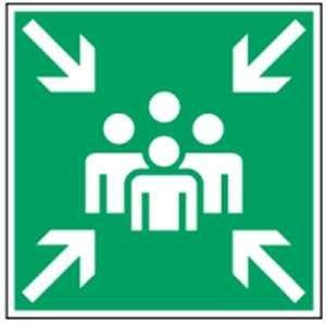Rettungszeichen - Sammelstelle - lang nachleuchtend - BGV A8-0