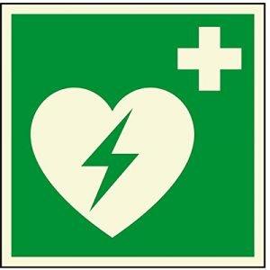 Rettungszeichen - Defibrillator - lang nachleuchtend - ISO 7010-0