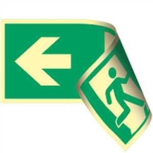 Fluchtwegschild - Notausgang links/rechts - lang nachleuchtend - ISO 7010-0