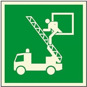 Rettungszeichen - Rettungsausstieg - lang nachleuchtend - ISO 7010-0