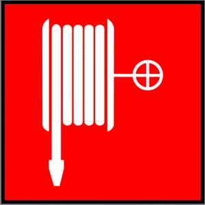 Brandschutzzeichen - Löschschlauch - lang nachleuchtend - BGV A8-0
