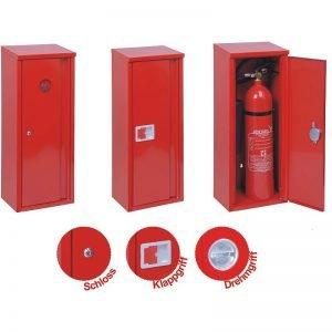 Aufputz-Schutzschrank 6 - 12 kg/Liter (rot, mit Schloss/Schlüssel)-0