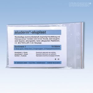 Aluderm Pflasterset Sortiment für Betriebsverbandskasten DIN 13157-0