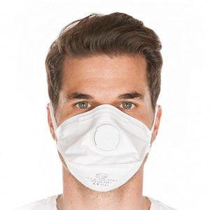 Atemschutzmaske FFP3 NR mit Ventil faltbar - 20 Stk.-0