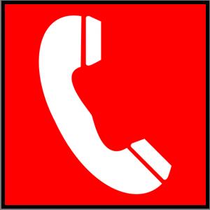 Brandschutzzeichen - Brandmeldetelefon - lang nachleuchtend - BGV A8-0
