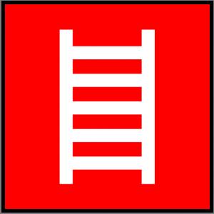 Brandschutzzeichen - Feuerleiter - lang nachleuchtend - BGV A8-0