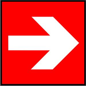 Brandschutzzeichen - Richtungsangabe - lang nachleuchtend - BGV A8-0