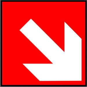 Brandschutzzeichen - Richtungsangabe aufwärts/abwärts - lang nachleuchtend - BGV A8-0