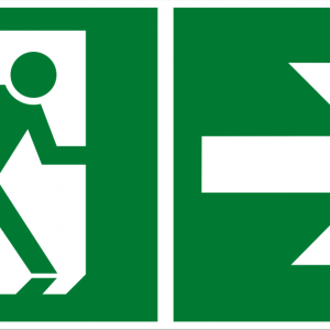 Fluchtwegschild - Notausgang rechts - nicht nachleuchtend - BGV A8-0