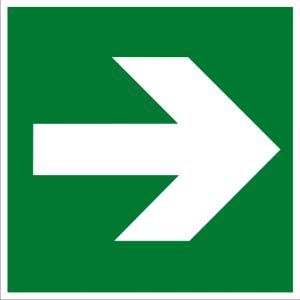 Rettungszeichen - Richtungsangabe - lang nachleuchtend - BGV A8-0