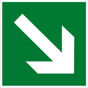 Rettungszeichen - Richtungsangabe aufwärts/abwärts - lang nachleuchtend - BGV A8-0